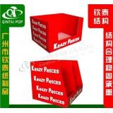 厂家精品纸货架化妆品展示架 日用品纸堆头纸展示架加工生产
