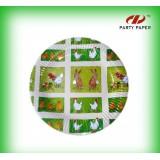 生产彩色亮光印刷纸盘高品质纸盘派对纸制品